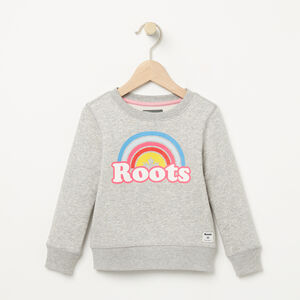 Roots-Kids Toddler Girls-Toddler Cooper Rainbow Crew-Grey Mix-A