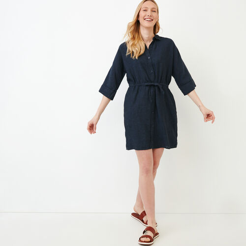 Roots-Women Dresses-Weymouth Dress-Indigo-A