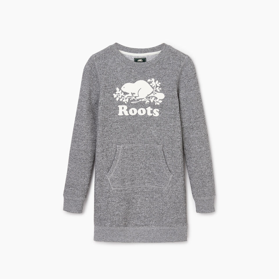 Roots-Kids Our Favourite New Arrivals-Girls Cooper Beaver Dress-Salt & Pepper-B