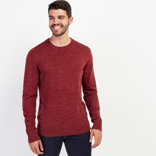 Roots-New For September Work From Home-All Seasons Crew Sweater-Mulberry-A
