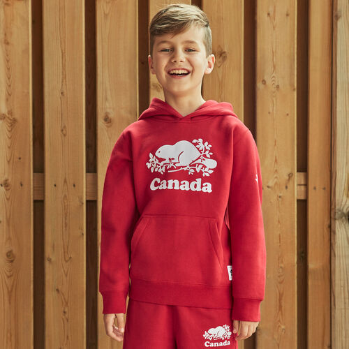 Roots-Kids New Arrivals-Boys Canada Kanga Hoody-Sage Red-A