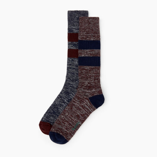 Roots-Men Our Favourite New Arrivals-Camp Sock 2 Pack-Crimson-A