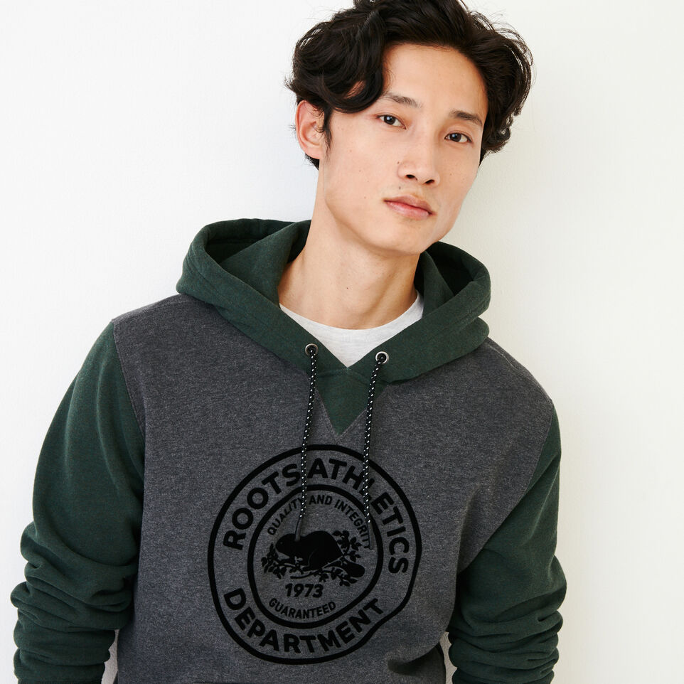 Roots-Men Our Favourite New Arrivals-Athletic Dept. Hoody-Charcoal Mix-E