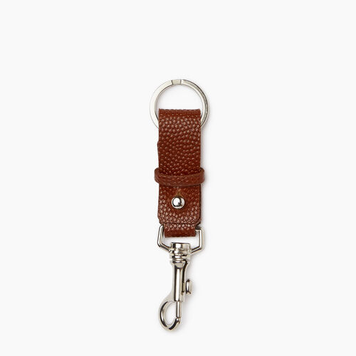 Roots-Women Leather Accessories-Horween Key Chain-Cognac-A