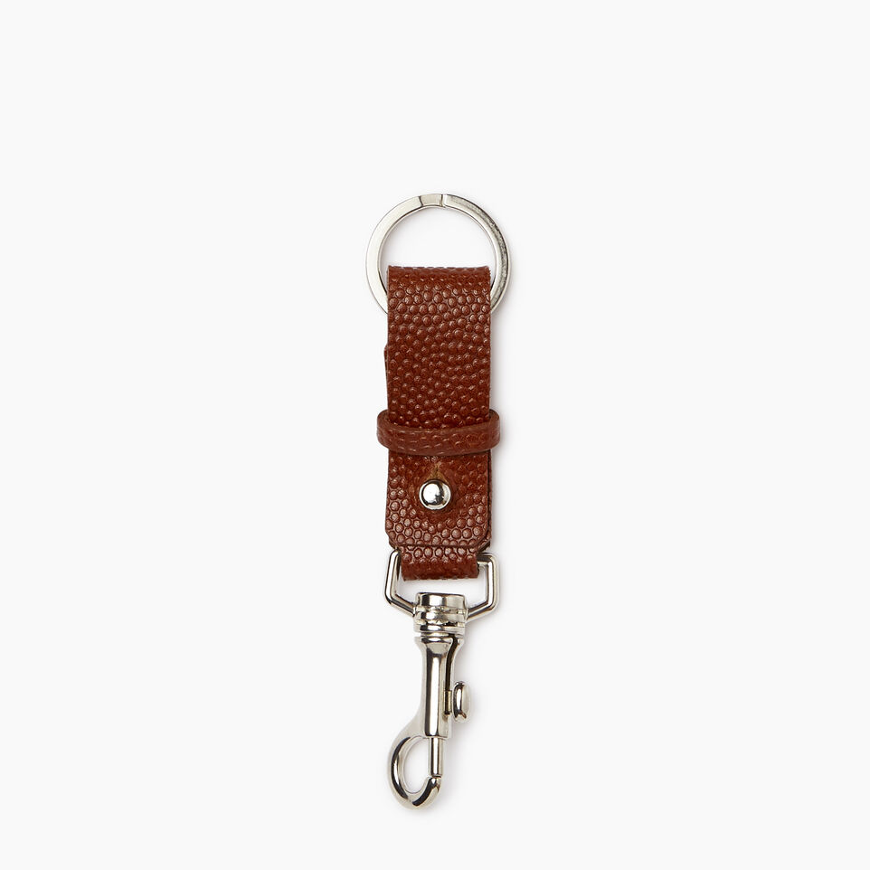 Roots-Women Clothing-Horween Key Chain-Cognac-A