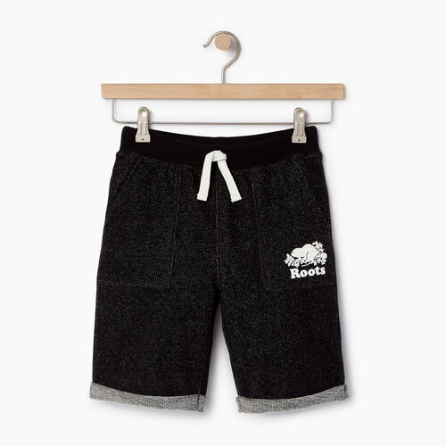 Roots-Clearance Kids-Boys Park Short-Black Pepper-A