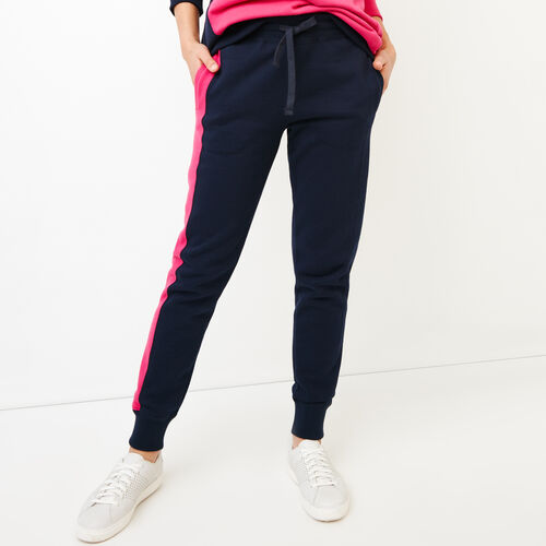 Roots-New For March Sweats-The Slim Contrast Sweatpant-Midnight Navy-A
