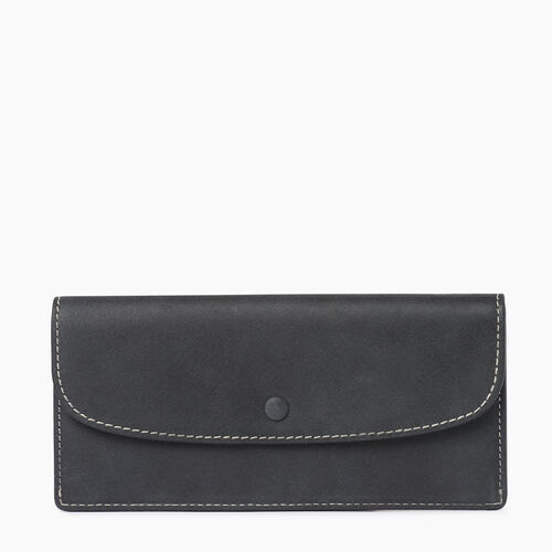 Roots-Women Wallets-Riverdale Slim Wallet-Jet Black-A