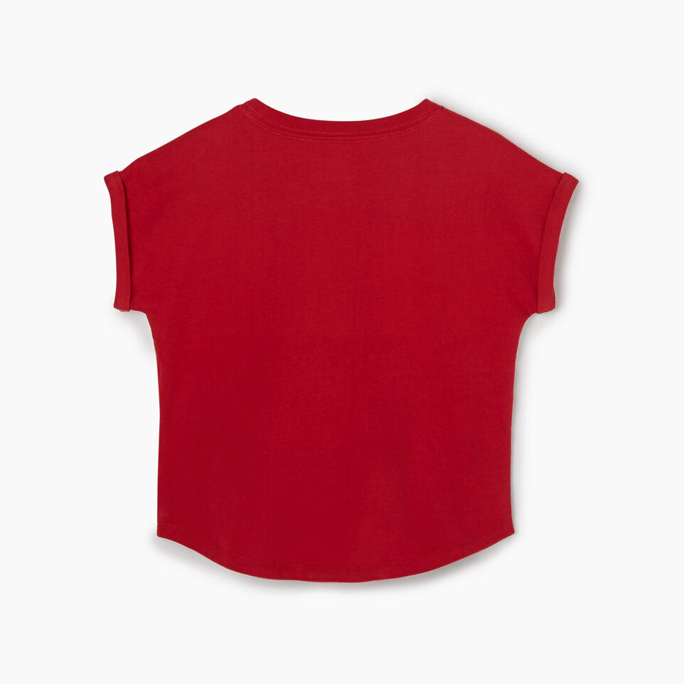 Roots-Kids Canada Collection-Toddler Blazon T-shirt-Sage Red-B