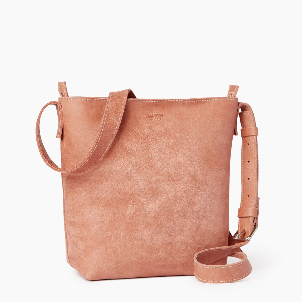 Roots-Leather Handbags-Rideau Crossbody-Canyon Rose-C