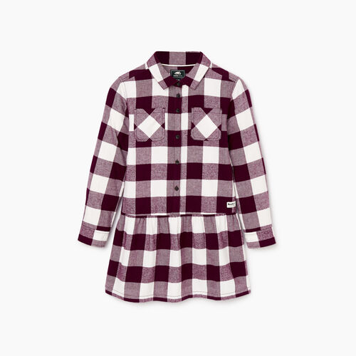 Roots-Sale Kids-Girls Park Plaid Dress-Pickled Beet-A
