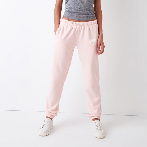Roots-Women Bottoms-Original Sweatpant-English Rose-A