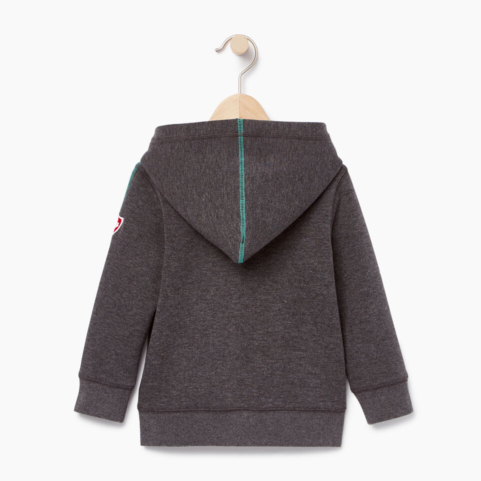 Roots-Kids Categories-Toddler Roots Speedy Full Zip Hoody-Charcoal Mix-B