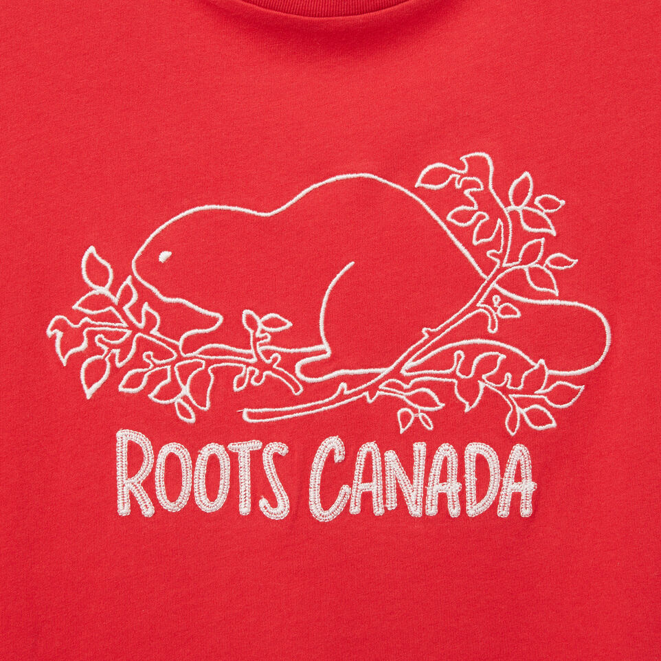Roots-undefined-Womens Roots Canada Beaver T-shirt-undefined-D