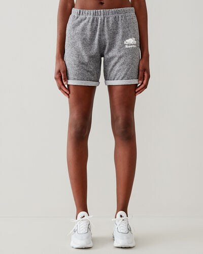Roots-Shorts Women-Original Longer Sweatshort 8 In-Salt & Pepper-A