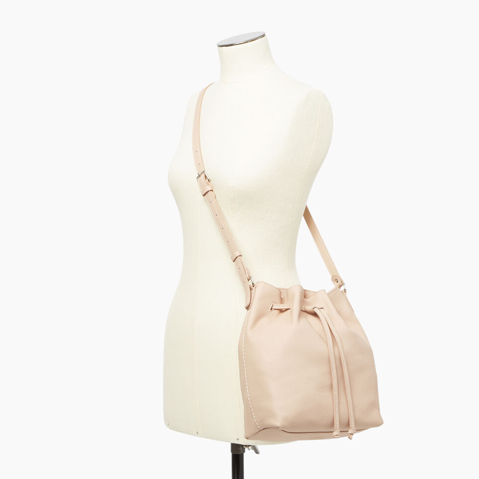 Roots-Leather  Handcrafted By Us Our Favourite New Arrivals-Sherbrooke Bucket-Pink Mist-B