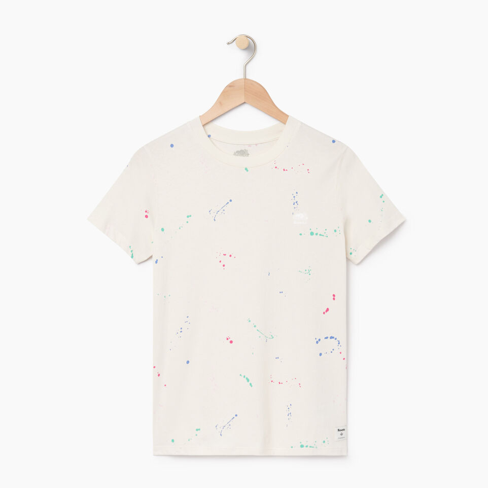 Roots-undefined-Womens Splatter T-shirt-undefined-A