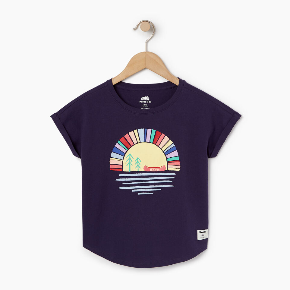 Roots-Kids Our Favourite New Arrivals-Girls Camp T-shirt-Eclipse-A