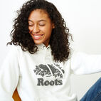Roots-Women Clothing-Chenille Cooper Beaver Hoody-Ivory-E