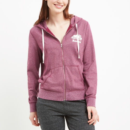Roots-Women Sweats-Mabel Lake Full Zip Hoody-Purple Potion Pepper-A