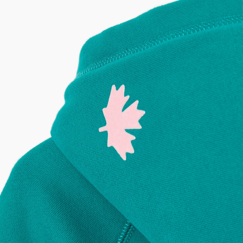 Roots-Kids New Arrivals-Girls Original Full Zip Hoody-Dynasty Turquoise-E
