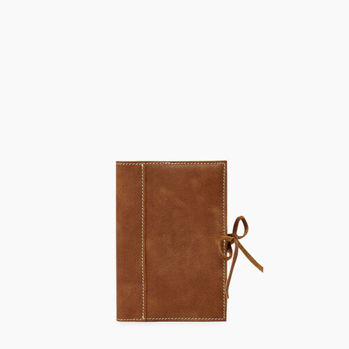 Roots-Leather Tech & Travel-Small Sketchbook Tribe-Natural-A