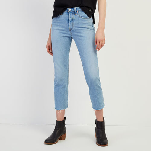 Roots-Women Categories-Levi's Wedgie Straight Jean-Med Denim Blue-A