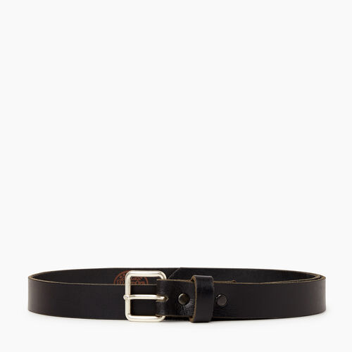 Roots-Leather Leather Accessories-Roots Unisex Belt-Black-A