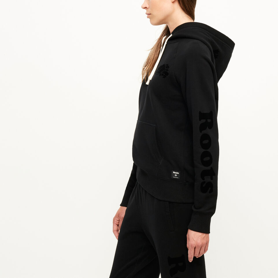 Roots-Women Our Favourite New Arrivals-Remix Kanga Hoody-Black-C