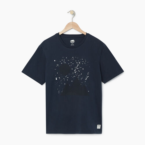 Roots-Men Our Favourite New Arrivals-Mens Splatter Night Skies T-shirt-Navy Blazer-A