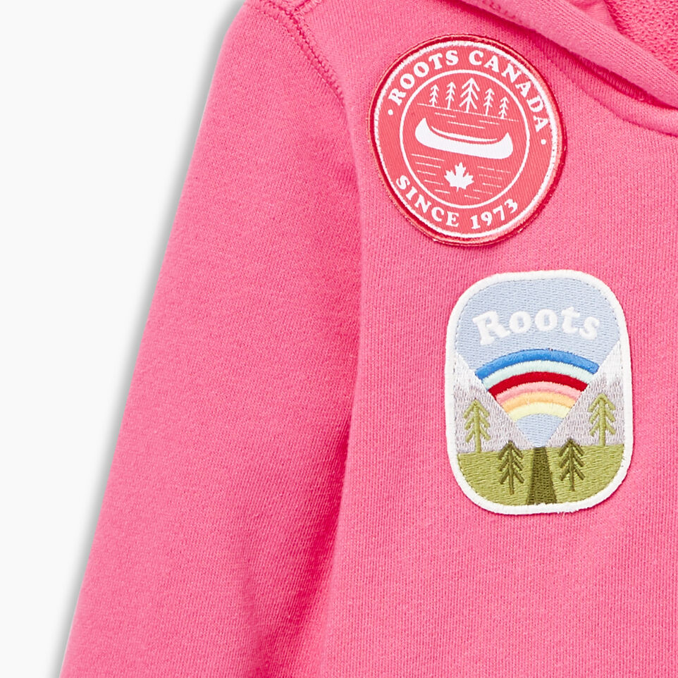 Roots-Kids Our Favourite New Arrivals-Toddler Patches Full Zip Hoody-Azalea Pink-D
