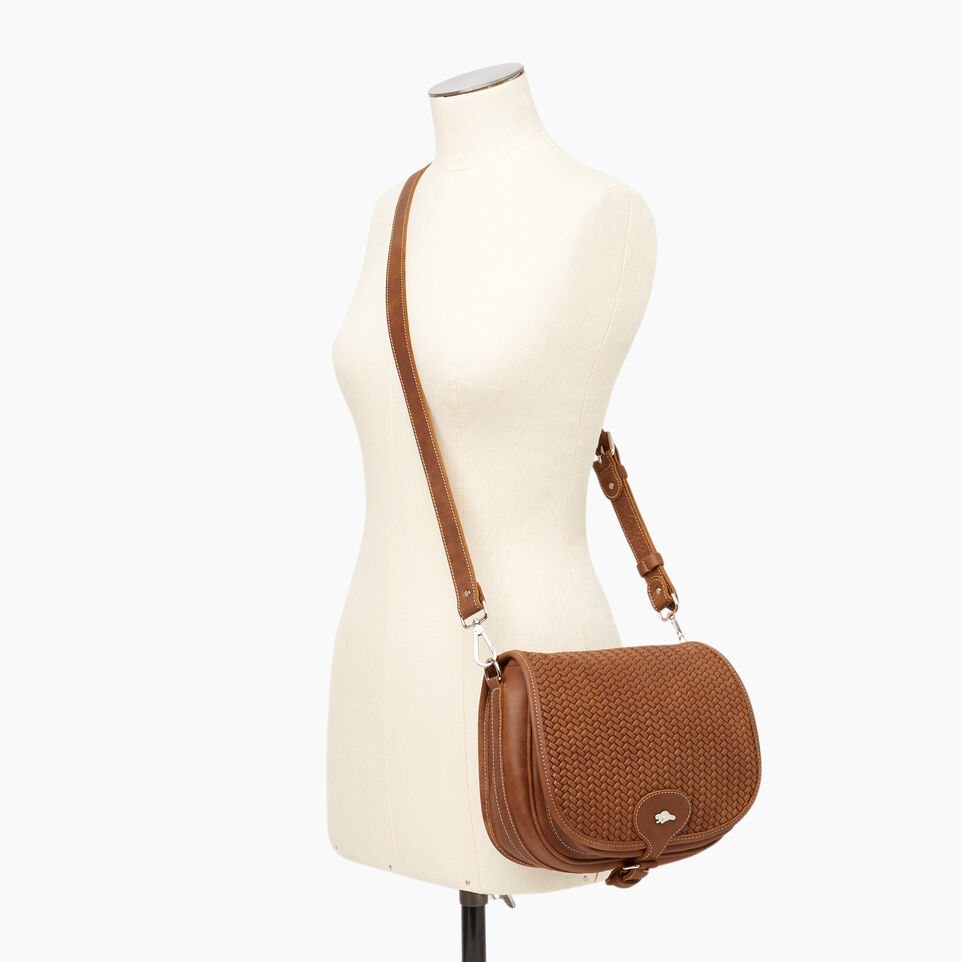 Roots-Women Leather-English Saddle Woven-Natural-B