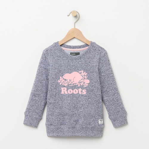 Roots-Kids Sweats-Toddler Original Crewneck Sweatshirt-Salt & Pepper-A