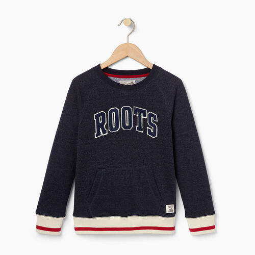 Roots-Kids Categories-Boys Roots Cabin Crew Sweatshirt-Navy Blazer Pepper-A