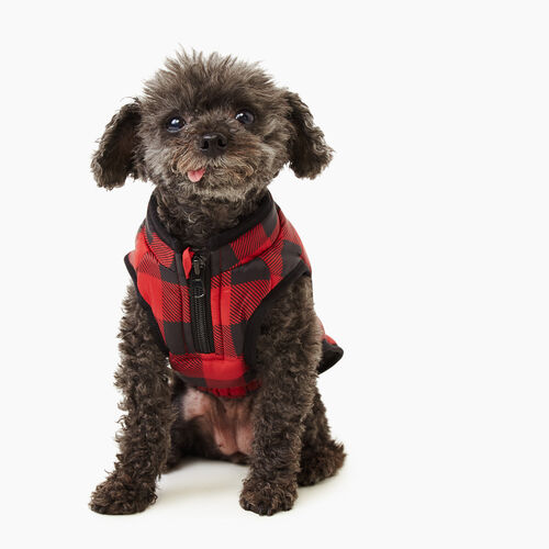 Roots-New For November Roots X Canada Pooch®-Pooch Park Plaid Puffer Size 10-Red-A