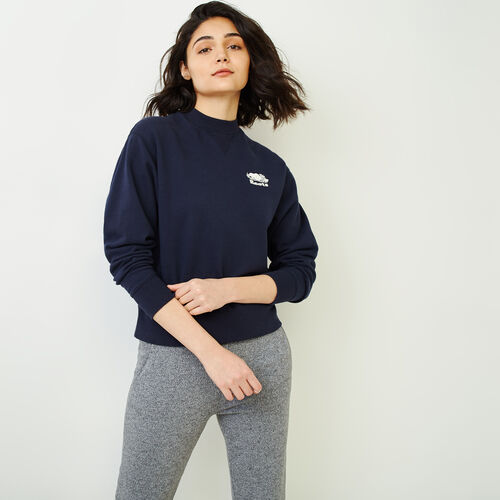 Roots-Women Categories-Sussex Crew Sweatshirt-Navy Blazer-A