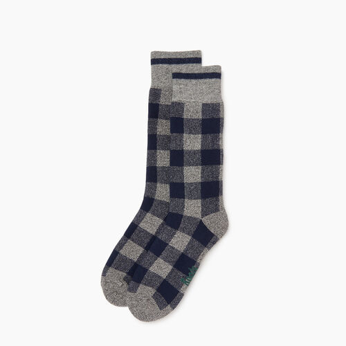 Roots-Men Categories-Mens Park Plaid Boot Sock-Navy Blazer-A