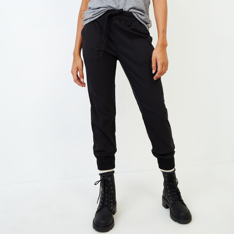 Roots-Women Our Favourite New Arrivals-Essential Jogger-Black-A