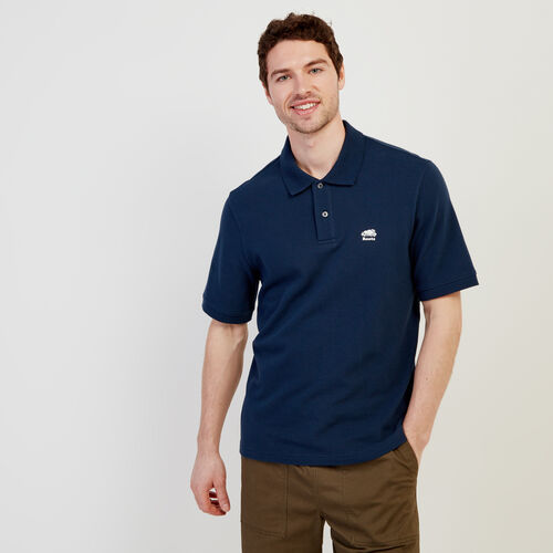 Roots-Men New Arrivals-Heritage Pique Polo-Cascade Blue-A