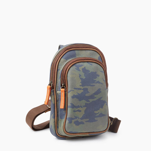 Roots-Leather Crossbody-Trinity Sling Camo-Green Camo-A