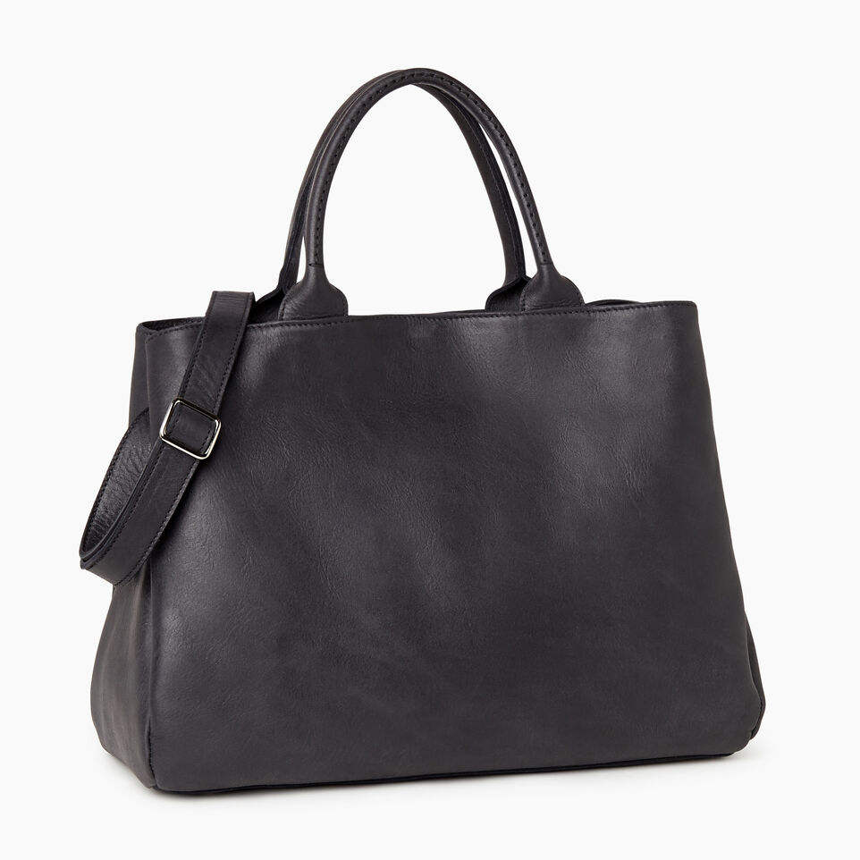 Roots-Leather Our Favourite New Arrivals-Large Mont Royal Bag-Jet Black-C
