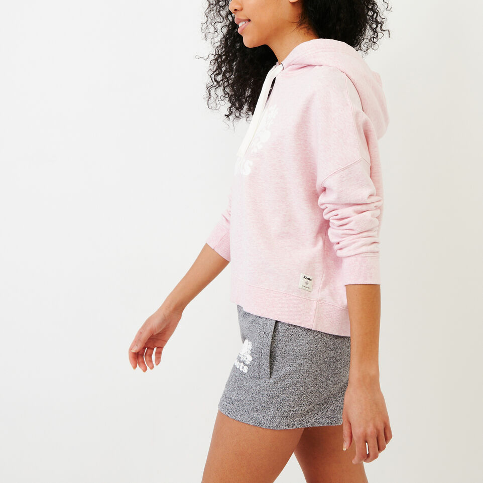 Roots-Women Our Favourite New Arrivals-Melange Terry Hoody-Pink Mist Mixpink-C
