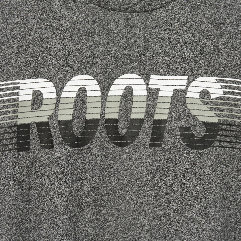 Roots-Men Our Favourite New Arrivals-Mens Roots Runner T-shirt-Charcoal Pepper-D