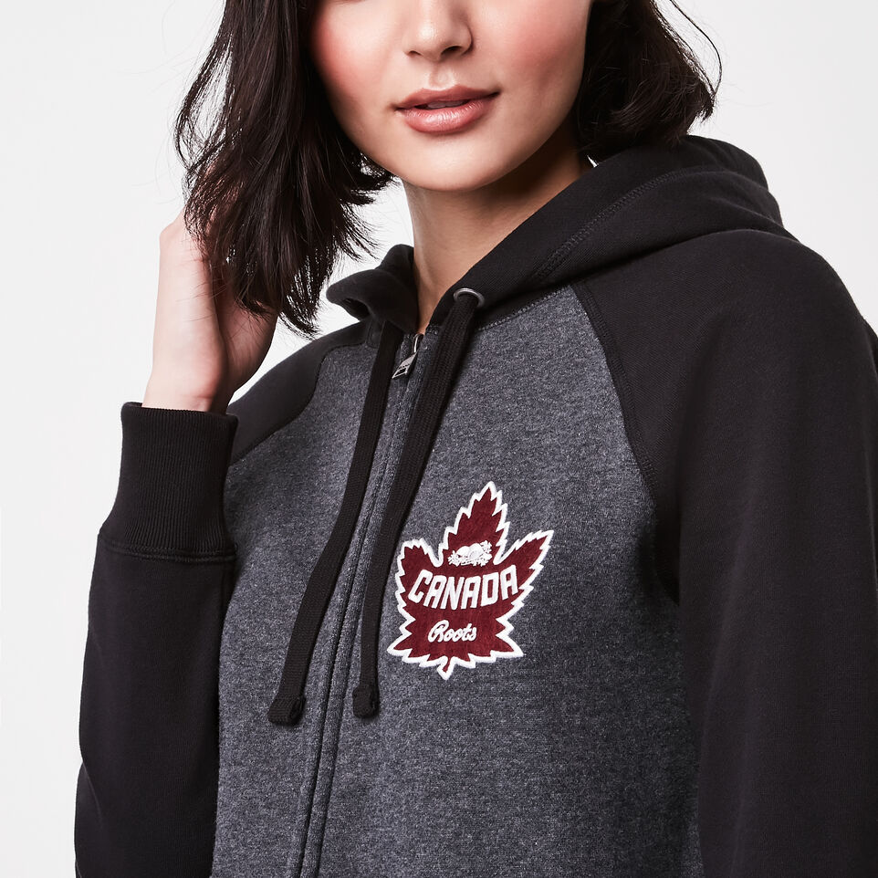 Roots-undefined-Womens Heritage Canada Full Zip Hoody-undefined-B