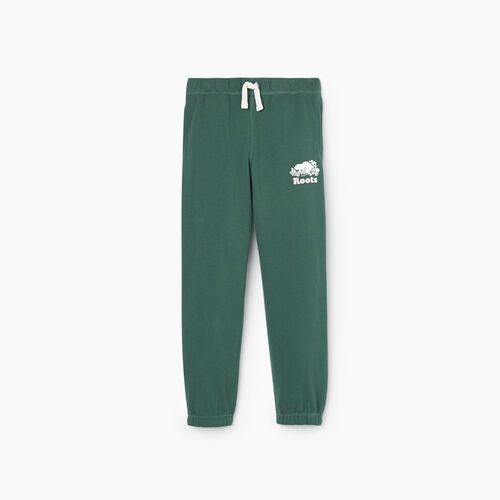 Roots-Kids New Arrivals-Boys Original Sweatpant-Hunter Green-A