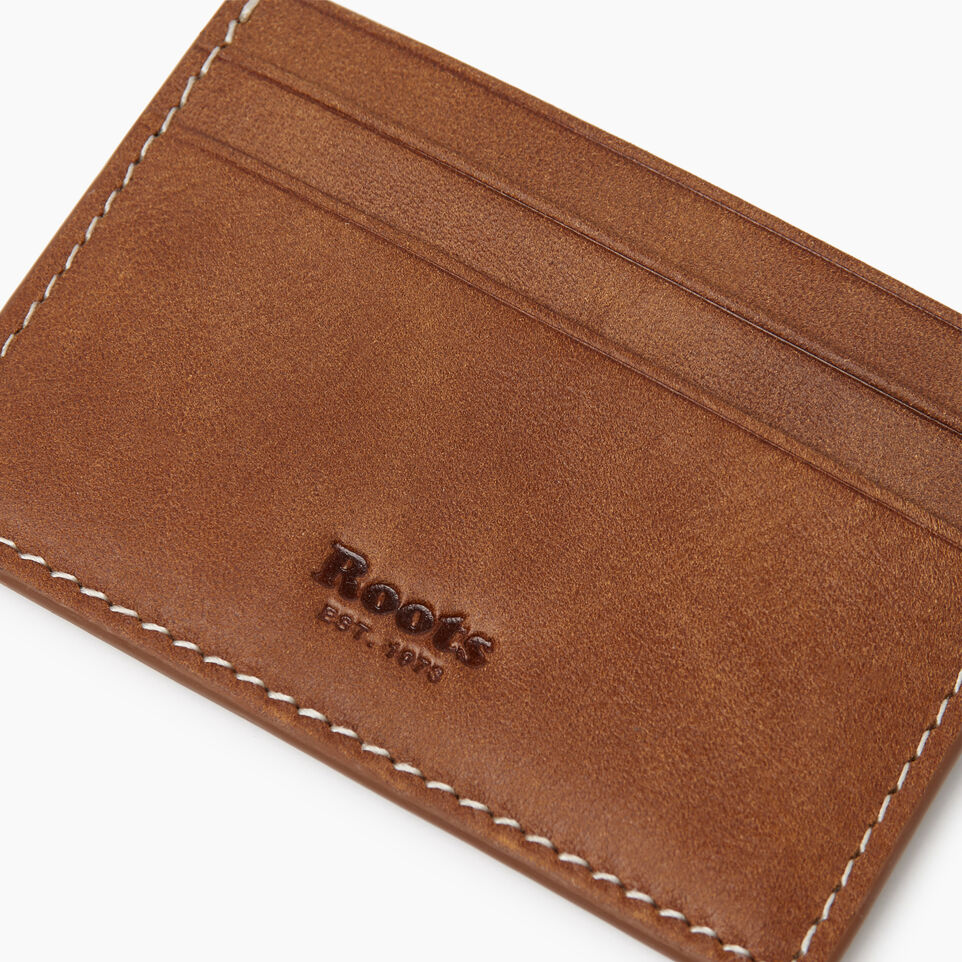 Roots-Leather  Handcrafted By Us Our Favourite New Arrivals-Card Holder Tribe-Natural-D
