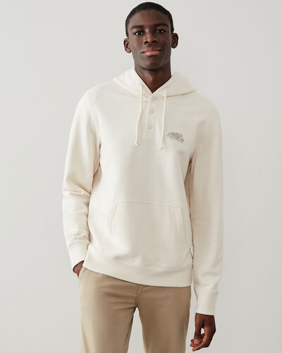 Roots-New For This Month Roots Organics-Organic Henley Kanga Hoody-Natural-A
