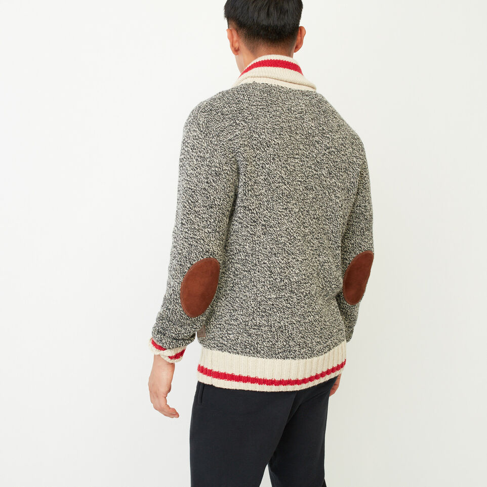 Roots-Clearance Men-Roots Cabin Shawl Cardigan-Grey Oat Mix-D