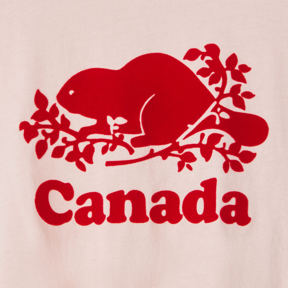 Roots-Kids Canada Collection-Toddler Canada Tie T-shirt-English Rose-C