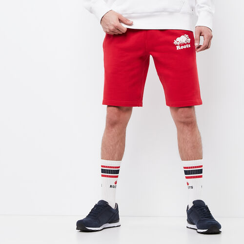 Roots-Men Shorts-Original Terry Short-Racing Red-A